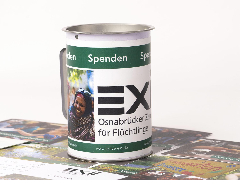 Spendendose Exil